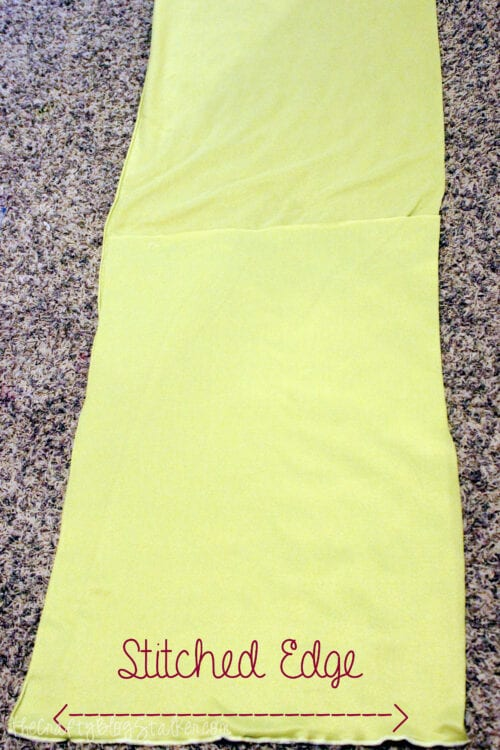two pieces of fleece fabric sewed together