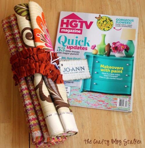 Custom Kitchen Rug | HGTV Fabric | Easy Sew | Home Decor | DIY | No Pattern Sewing