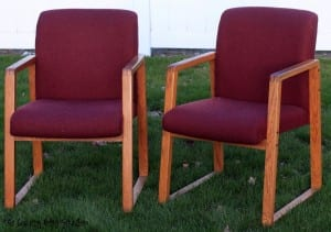 Cover An Old And Ugly Office Chair To Give It New Life This Transformation  S