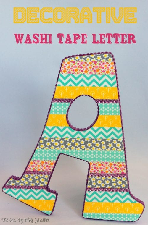 21 Easy Crafts for Adults to Make with 5 Supplies or Less, featured by top US craft blog, The Crafty Blog Stalker: decorative monogram letter