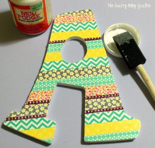 Decorative Washi Tape Letter | Monogram | Mod Podge | Gemz | DIY Crafts | Home Decor