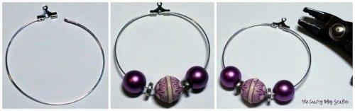 DIY Jewelry   Beaded Hoop Earrings   Handmade Earrings   Beads   Tutorial