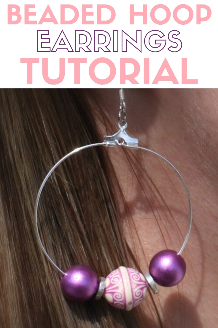 title image for How to Make Large Beaded Hoop Earrings