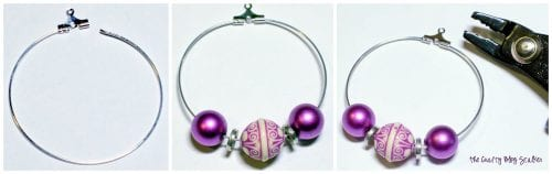 stepped out image showing How to Make Large Beaded Hoop Earrings