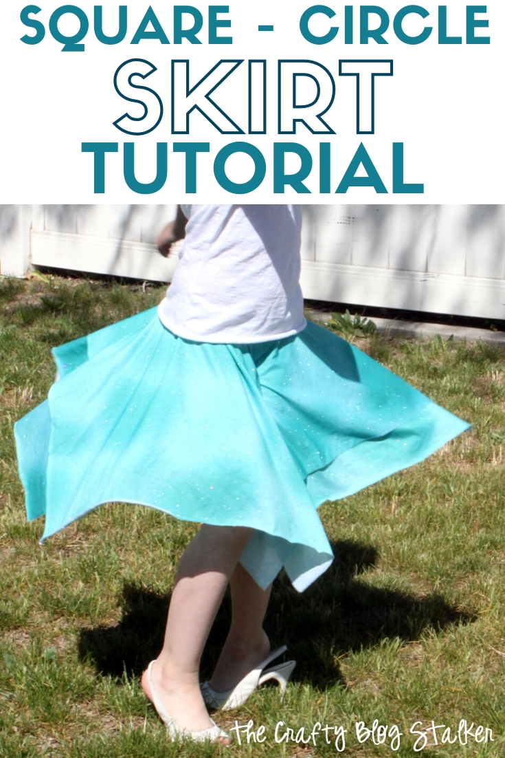 title image for How to Sew Layered Square Circle Skirts with Elastic Waist