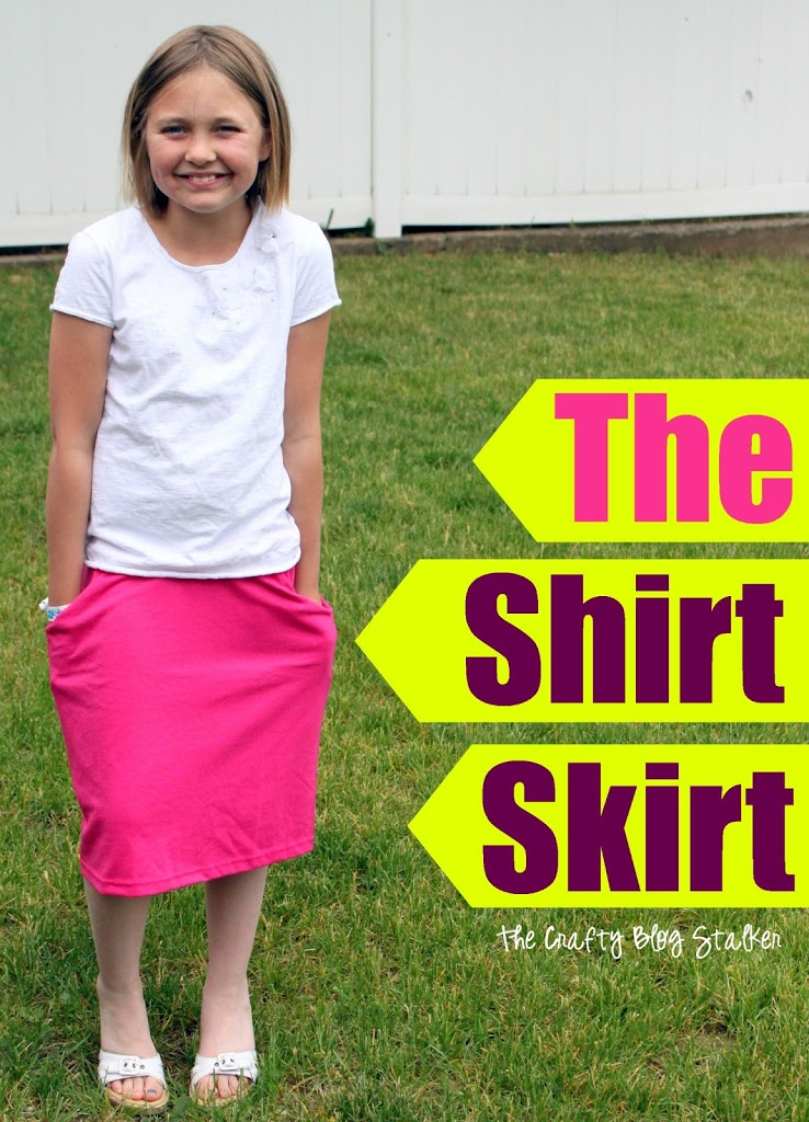 Start with a shirt, end with a skirt! It's a shirt skirt. This is a fun easy sew project that you will be proud to wear and show off.