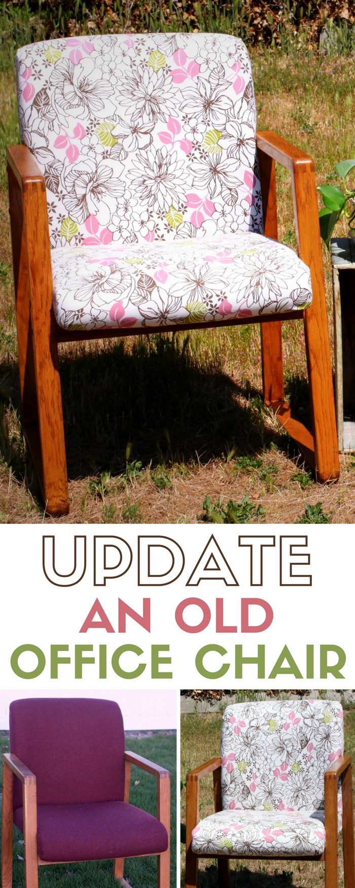 Update an Old Office Chair | Upholstery | Home Decor | Furniture Makeover | Fabrics | DIY