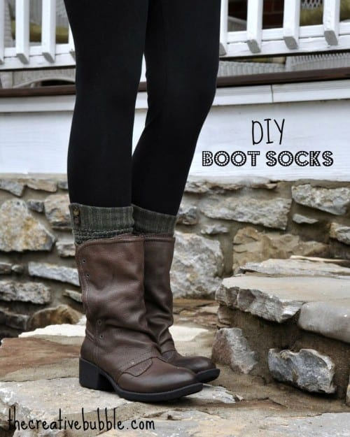 20 Sock Craft Ideas to make with Mismatched Socks featured by top US craft blog, The Crafty Blog Stalker: DIY boot socks