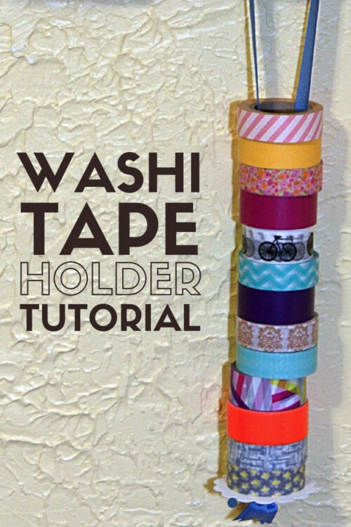 title image for How to Make a DIY Washi Tape Holder