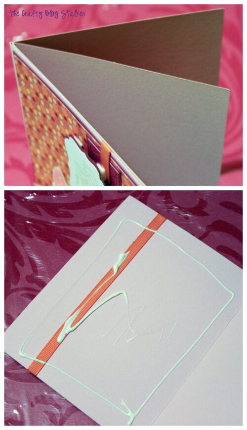 image of adding pages to a handmade card