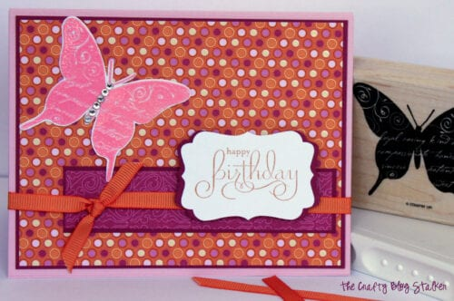 image of finished handmade birthday card