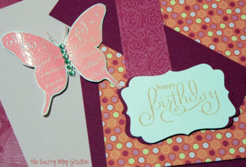 image of the pieces for a handmade birthday card