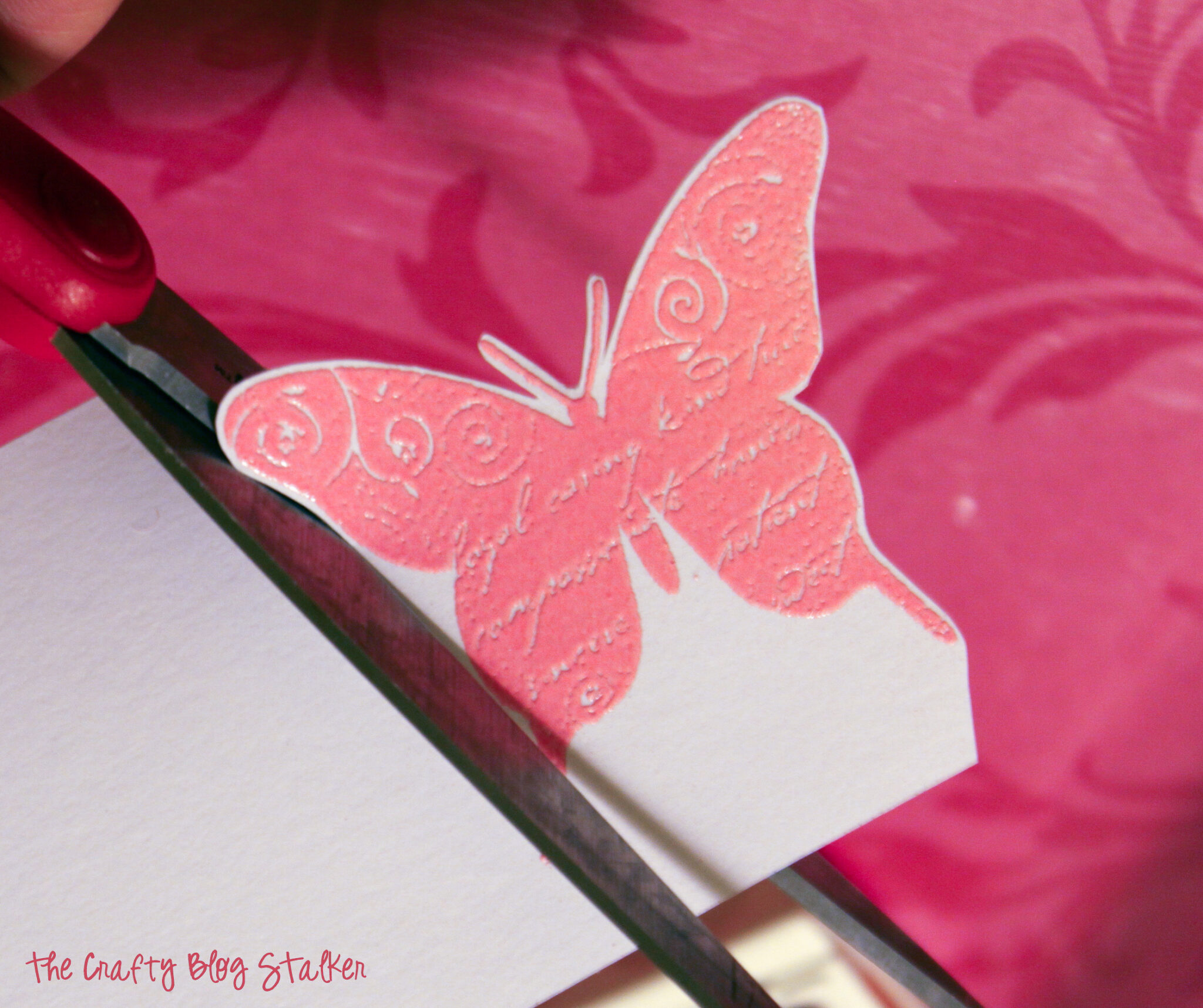 image of cutting out the butterfly shape