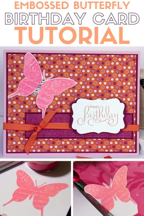 title image for How to Make Handmade Cards with Embossed Butterfly