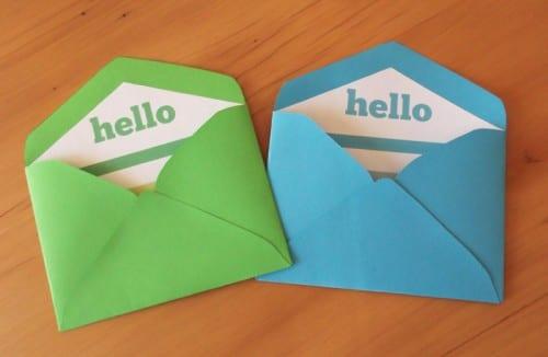 Bild von druckbaren Mini-Umschlagvorlagen und -linern