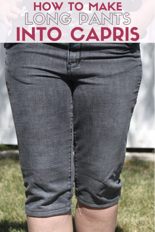 title image for How to Cut Pants into Capris
