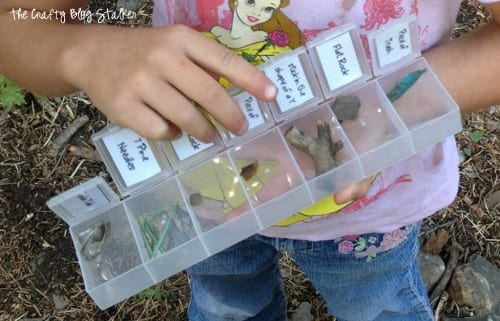 an image of a girl holding a completed scavenger hunt game