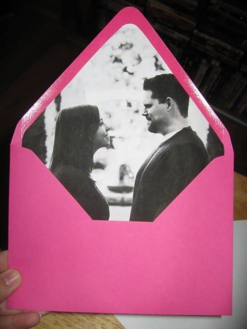 Bild der Hochzeit laden Umschlagliner ein