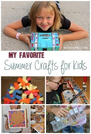 Bored kids? These summer crafts are kid tested and kid approved. Make summer fun and fill it with crafts for kids!