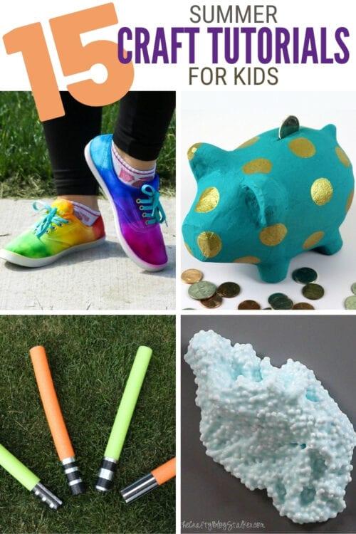title image for 15 Favorite Summer Crafts for Kids