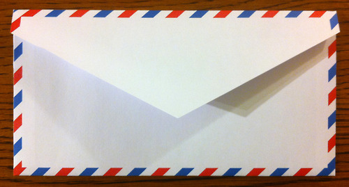 image of Airmail Envelope Templates