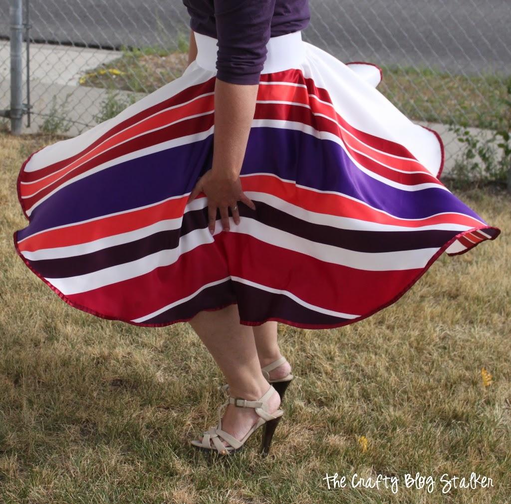 Striped Circle Skirt Tutorial The Crafty Blog Stalker