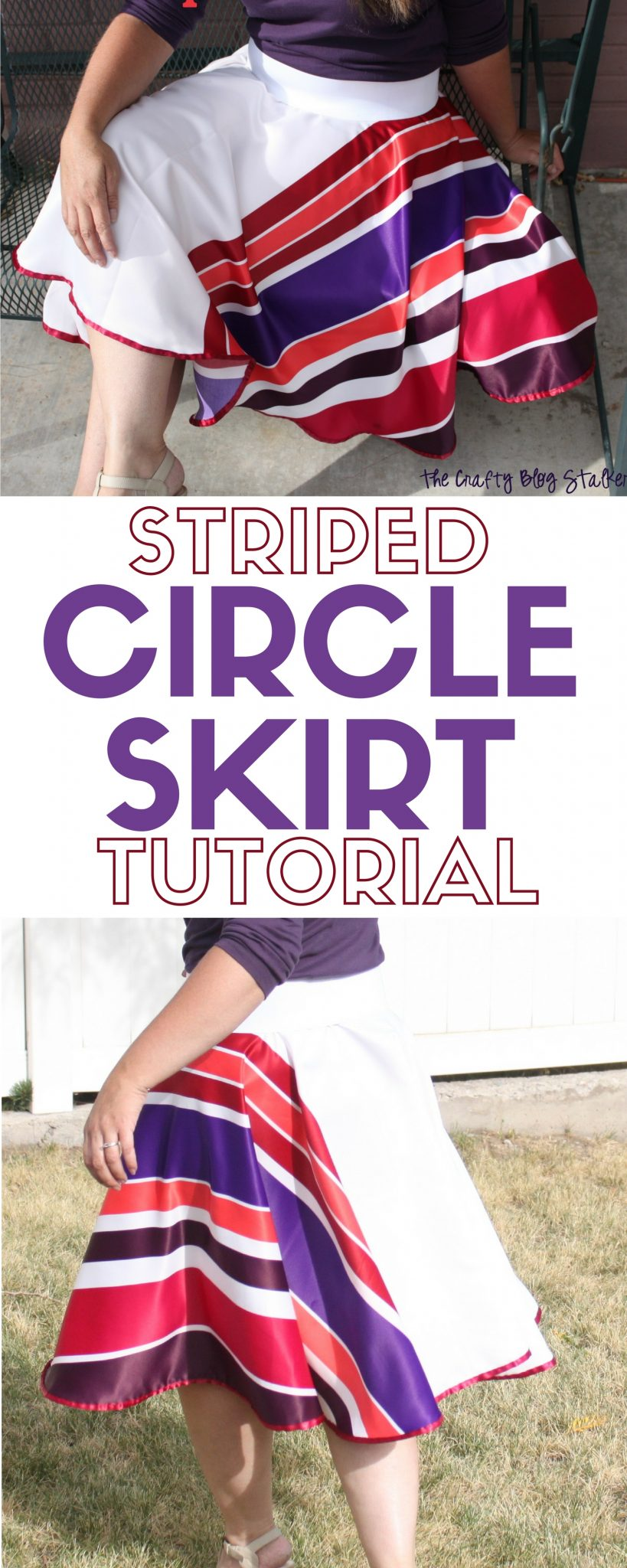 Sew a Circle Skirt in any fabric you choose to show off your fashion and style. A simple DIY craft tutorial idea perfect for the beginning sewer.