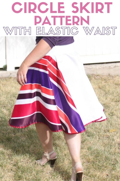 title image with text for How to Make a Circle Skirt Pattern and Sewing Tutorial