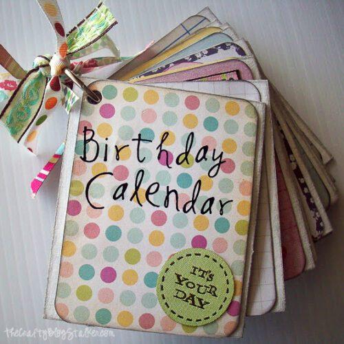 birthday month calendar project