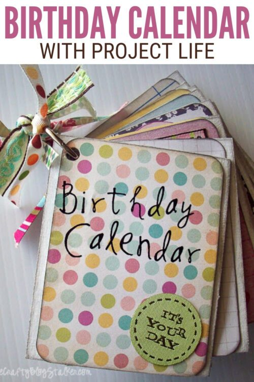 title image for Birthday Month Calendar Mini Book with Project Life