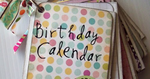birthday month calendar project 3
