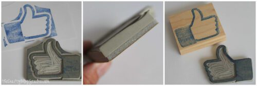 mounting rubber stamp