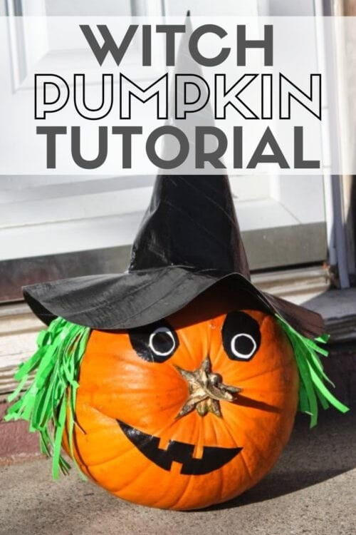 title image for witch pumpkin tutorial