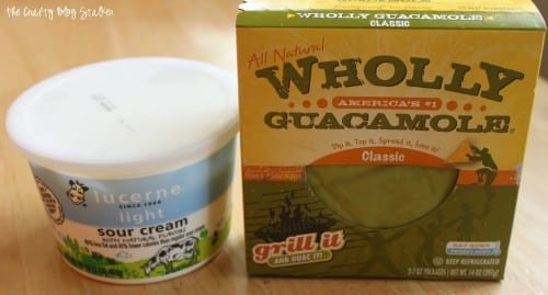 image of sour cream and wholly guacamole