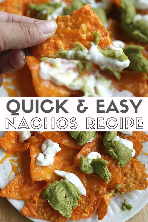 Title image for quick and easy nachos recipe