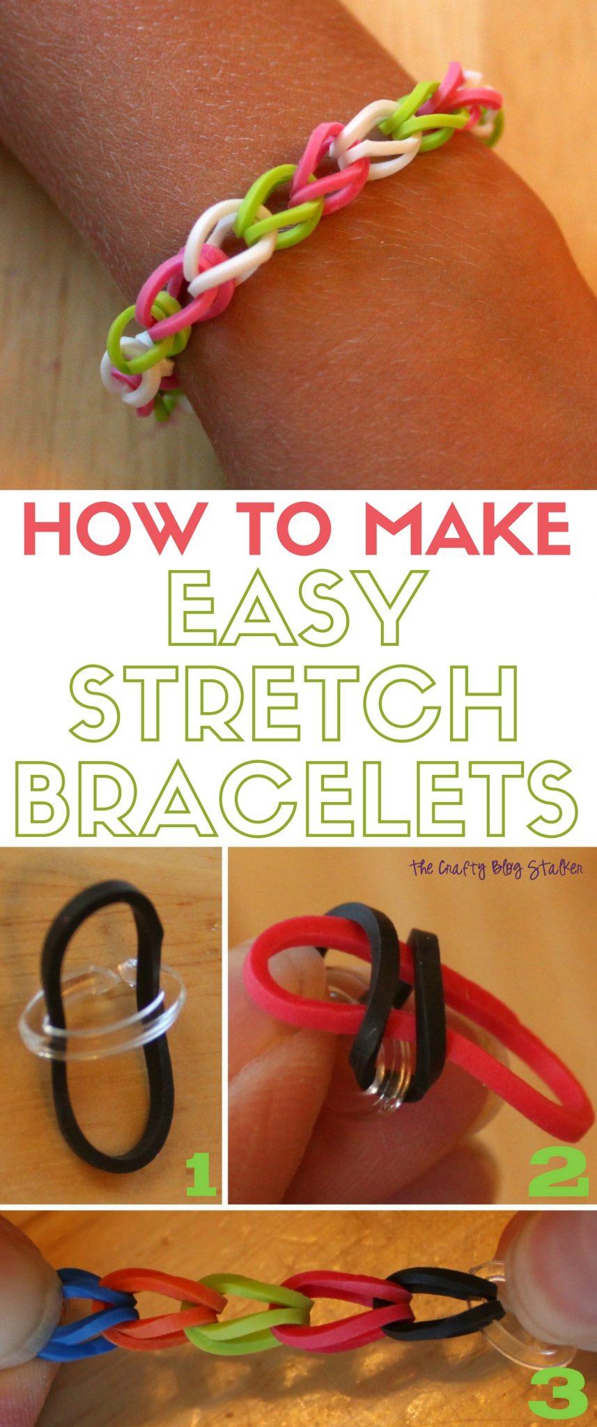 Stretch Bracelet | DIY Craft Tutorial | Kids Craft | Stretch Bands