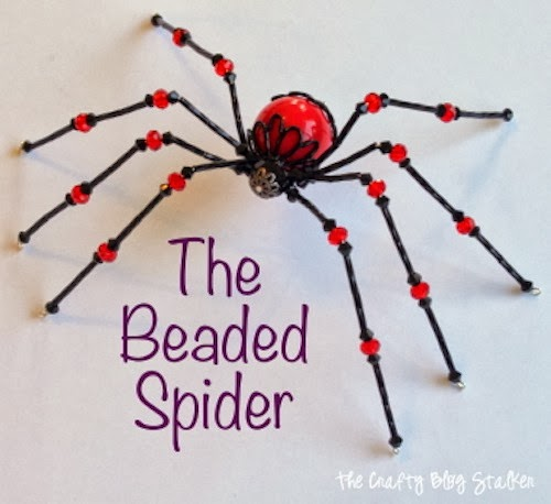 Did you know beaded spiders are good luck? Add it to a scary Halloween scene or hang your Christmas spider on the tree! Follow this tutorial to show you how