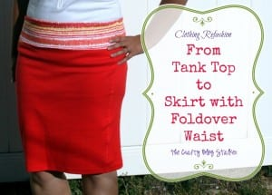 How to Sew a Pencil Skirt from 2 Tank Tops | Fold-over waistband | yoga waistband | how to sew | Easy DIY Craft Tutorial Idea | easy sew | beginner