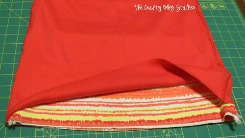 How to Sew a Pencil Skirt from 2 Tank Tops, a tutorial featured by top US craft blog, The Crafty Blog
