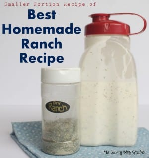How to Make a Smaller Portion Best Homemade Ranch Recipe