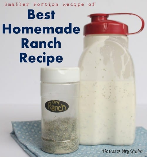 Homemade ranch tastes so much better than the store-bought stuff, and this ranch recipe is delicious! This is one of my most pinned posts on Pinterest.