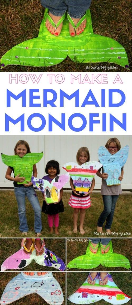 Mermaid Monofin | Kids Craft | DIY Tutorial | Pretend Play | Dress Up | The Little Mermaid