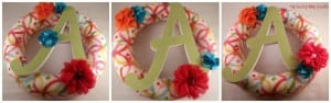 How to Make a Fabric Monogram Wreath