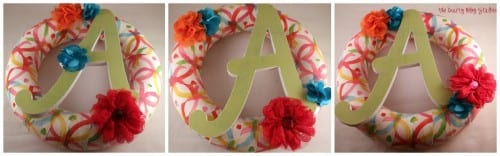 Fabric Monogram Wreath | Home Decor | DIY Craft Tutorial | Front Door