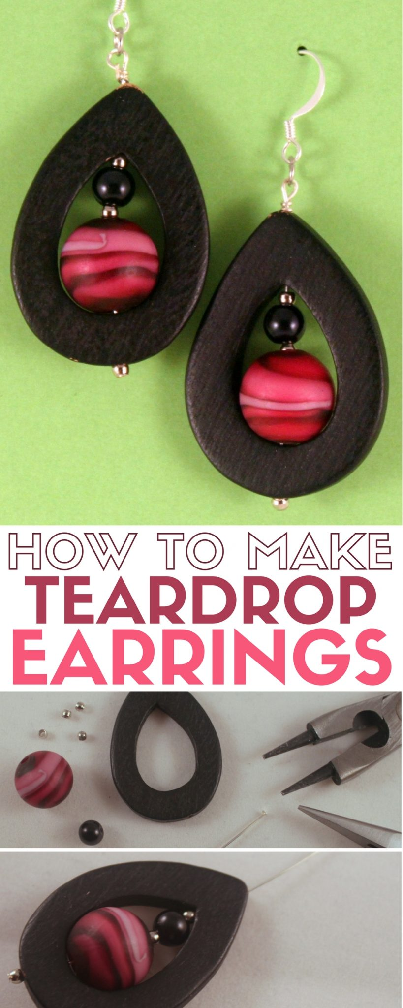 Learn how to make your own DIY jewelry. A simple DIY craft tutorial idea for teardrop earrings that are easier to make than you think!