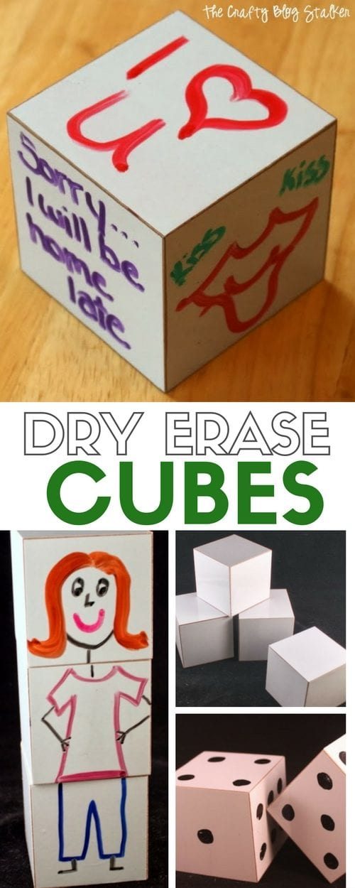 How to Make Dry Erase Cubes | Easy DIY Craft Tutorial Idea | Games | Kids | Design | Markers