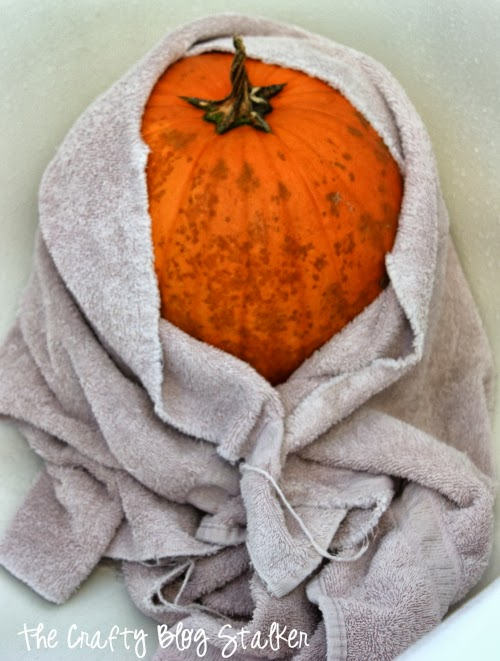 How to Make a No-Carve Duck Tape® Witch Pumpkin, a tutorial featured by top US craft blog, The Crafty Blog Stalker.