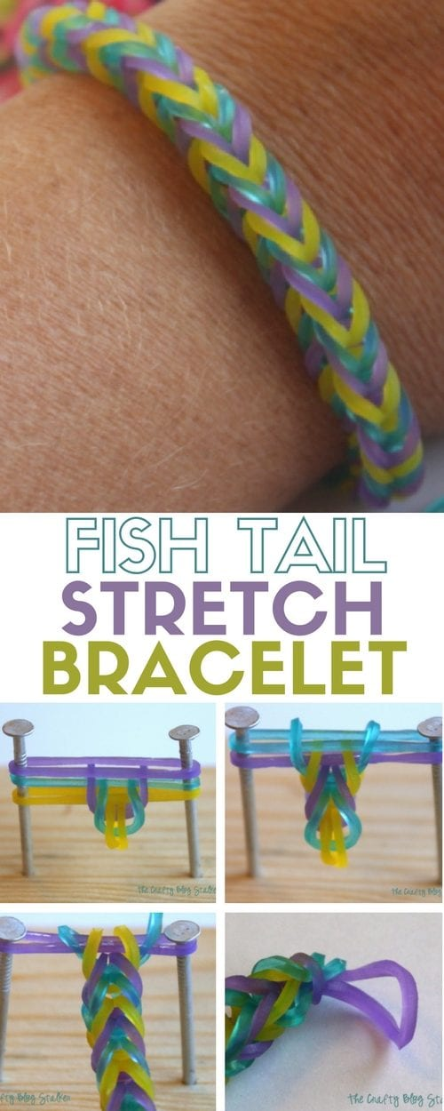 Learn how to make a Fish Tail Stretch Bracelet. An easy DIY craft tutorial idea that is fun for all ages! The new trend in friendship bracelets.
