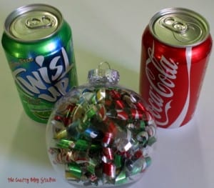 How to Make a Soda Can Christmas Ornament