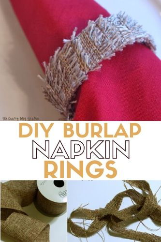 How to Make DIY Burlap Napkin Rings, a tutorial featured by top US craft blog, The Crafty Blog Stalker.